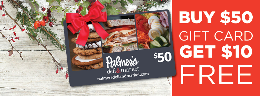 Palmer's gift cards